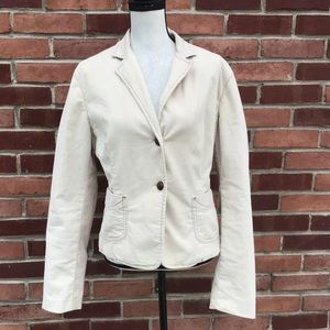 Creamy white Corduroy blazer jacket. Gapstretch 14